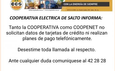 Cooperativa Electrica de Salto informa